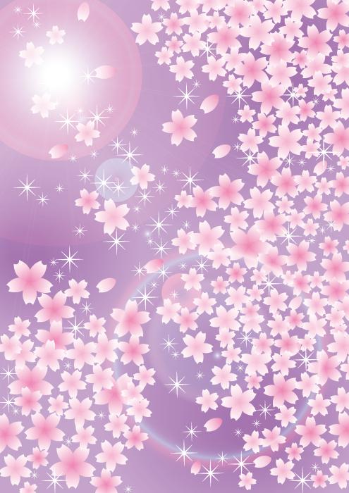フリーイラスト 桜吹雪の背景
