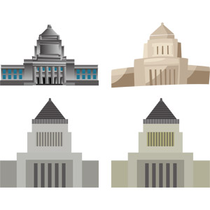 フリーイラスト, ベクター画像, AI, 建造物, 建築物, 議事堂, 国会議事堂, 東京都, 政治