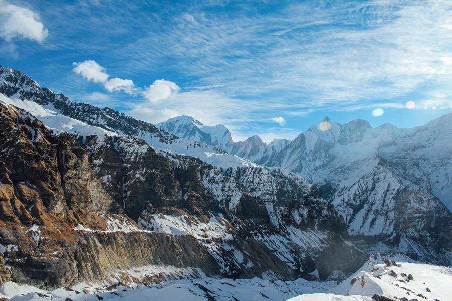 フリー写真 ヒマラヤ山脈の風景