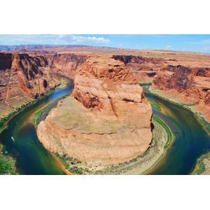 フリー写真, 風景, 自然, 渓谷, 河川, ホースシューベンド, アメリカの風景, アリゾナ州