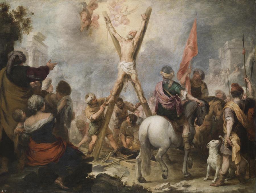 フリー絵画 バルトロメ・エステバン・ムリーリョ作「聖アンデレの殉教」