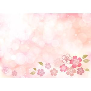 フリーイラスト, ベクター画像, AI, 背景, 玉ボケ, 桜(サクラ), 春, ピンク色