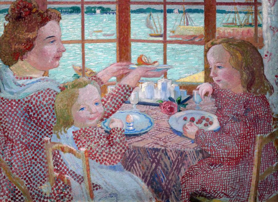 フリー絵画 モーリス・ドニ作「朝食」