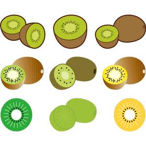 フリーイラスト, ベクター画像, AI, 食べ物(食料), 果物(フルーツ), キウイフルーツ