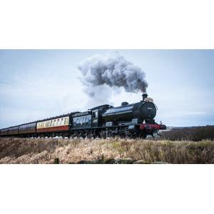 フリー写真, 乗り物, 列車(鉄道車両), 蒸気機関車, イギリスの鉄道車両, 煙(スモーク)