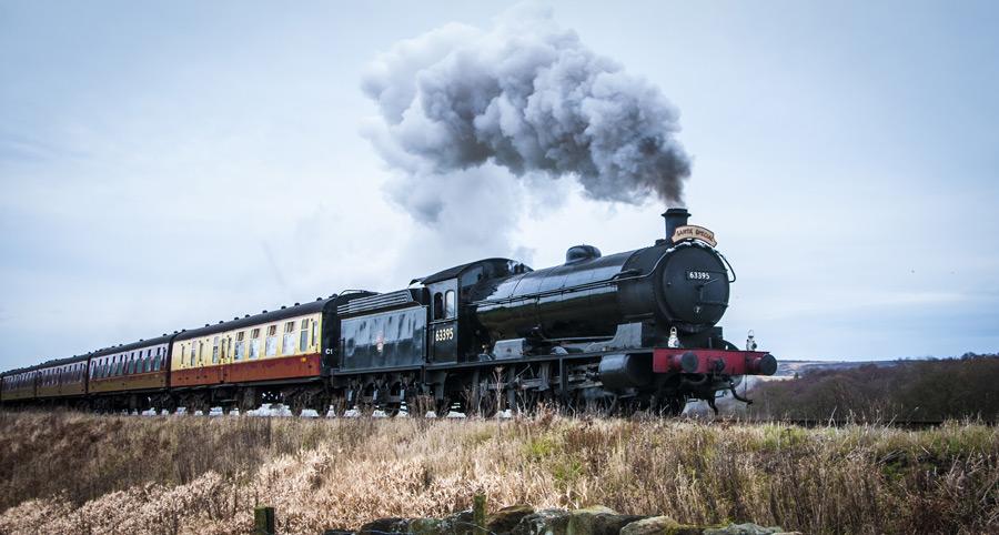 フリー写真 ノース・ヨークシャー・ムーア鉄道の蒸気機関車