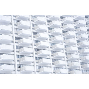 フリー写真, 風景, 建造物, 建築物, 高層ビル, 住宅, マンション, 白色(ホワイト)