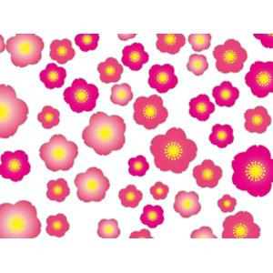 フリーイラスト, ベクター画像, AI, 背景, 花, 桃(モモ), 春, ピンク色の花