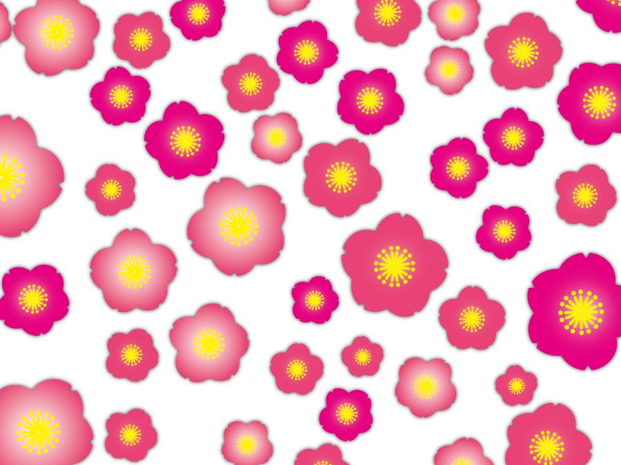 フリーイラスト 桃の花の背景