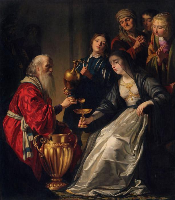フリー絵画 ヘラルト・ファン・ホントホルスト作「アルテミシア」