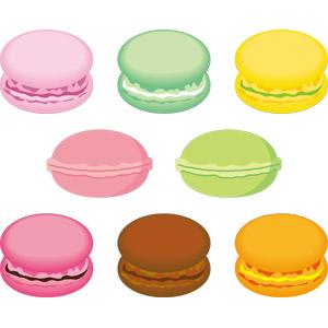 フリーイラスト, ベクター画像, AI, 食べ物(食料), 菓子, 洋菓子, マカロン