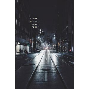 フリー写真, 風景, 建造物, 建築物, 高層ビル, 都市, 道路, 夜, 夜景, 街並み(町並み), カナダの風景, トロント