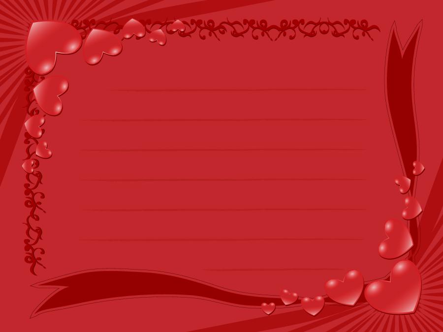 フリーイラスト ハートのメッセージカード