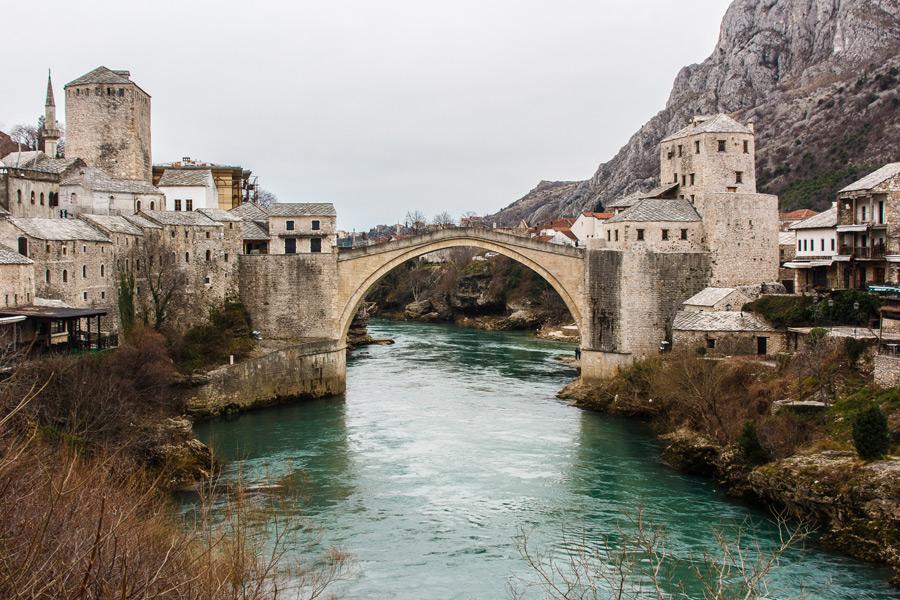 フリー写真 スタリモストの橋の風景