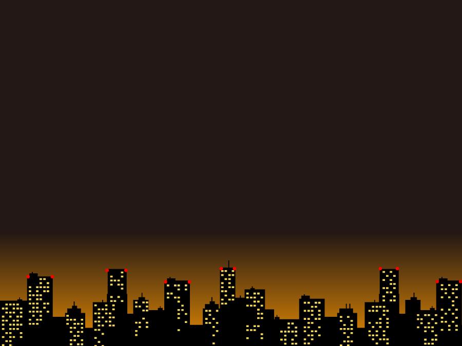 フリーイラスト 都市の夜景