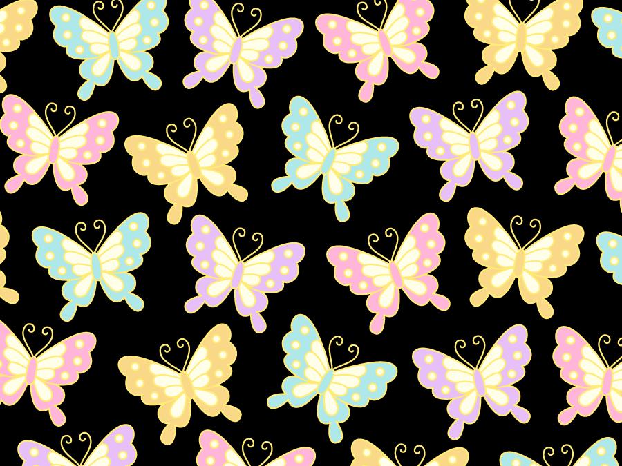 フリーイラスト 蝶の和風背景