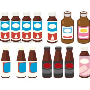 フリーイラスト, ベクター画像, AI, 飲み物(飲料), 栄養ドリンク, 栄養補助食品, 医薬品