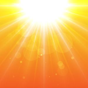 フリーイラスト, ベクター画像, AI, 背景, 夕暮れ(夕方), 夕焼け, 夕日, 太陽光(日光), オレンジ色