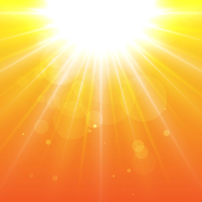 フリーイラスト 夕日の光線の背景