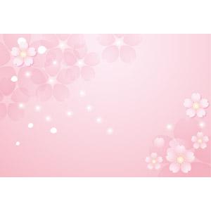 フリーイラスト, ベクター画像, AI, 背景, フレーム, 対角フレーム, 花, 桜(サクラ), 春, 星(スター), ピンク色