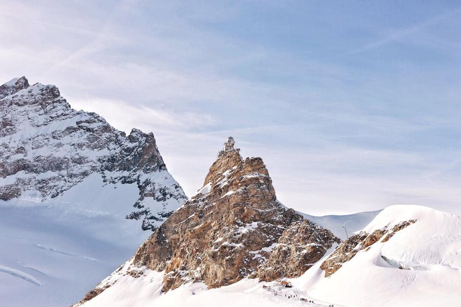 フリー写真 ユングフラウヨッホのスフィンクス観測所