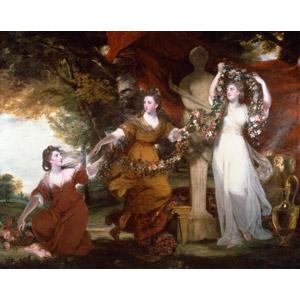 フリー絵画, 人物画, 女性, 外国人女性, 三人, 彫像