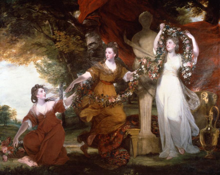 フリー絵画 ジョシュア・レノルズ作「結婚式を飾る三人の女」