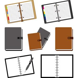 フリーイラスト, ベクター画像, AI, 手帳, 文房具