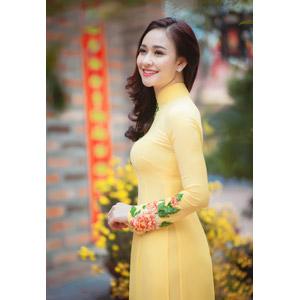 フリー写真, 人物, 女性, アジア人女性, ベトナム人, 女性(00149), アオザイ