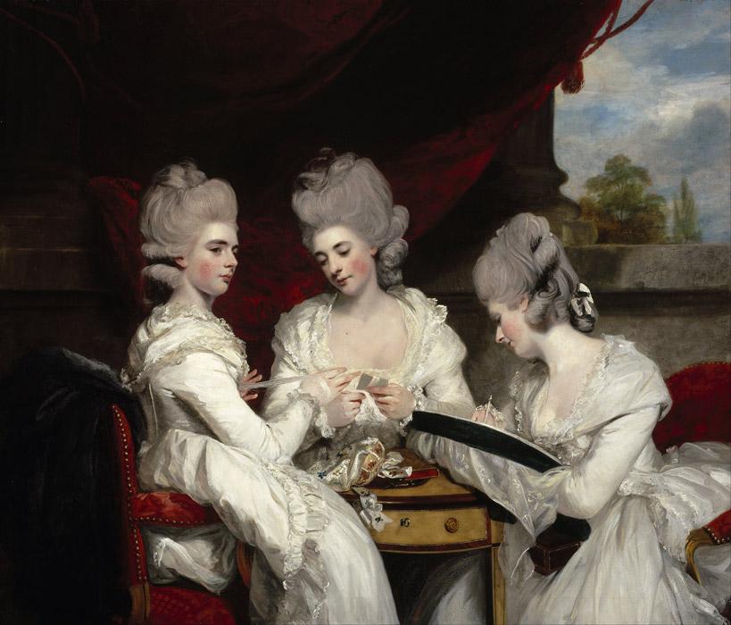 フリー絵画 ジョシュア・レノルズ作「ウォルドグレイヴの三姉妹」