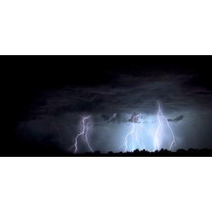 フリー写真, 風景, 自然, 天気, 夜, 嵐, 落雷(カミナリ), 暗雲