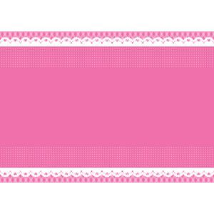 フリーイラスト, ベクター画像, AI, 背景, フレーム, 上下フレーム, レース編み, ピンク色, ハート