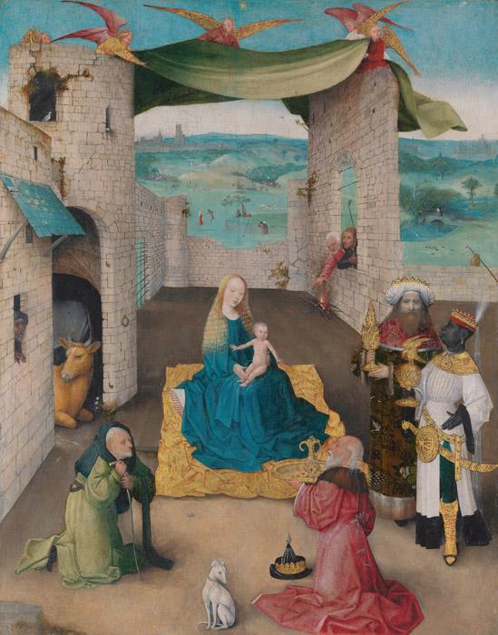 フリー絵画 ヒエロニムス・ボス作「東方三博士の礼拝」