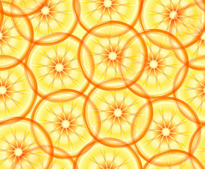 フリーイラスト 輪切りのオレンジの背景