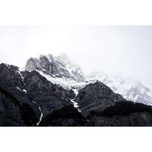 フリー写真, 風景, 自然, 山, 雪, ロッキー山脈, カナダの風景