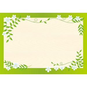 フリーイラスト, ベクター画像, AI, 背景, フレーム, 囲みフレーム, 掲示板, 植物, 花