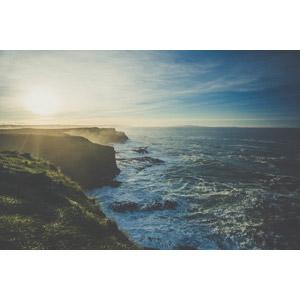 フリー写真, 風景, 自然, 海岸, 海, 太陽光(日光), ジャイアンツ・コーズウェー, イギリスの風景, 北アイルランド, 世界遺産