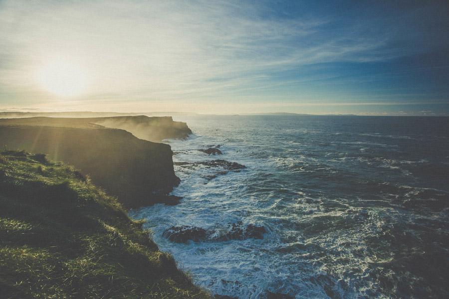 フリー写真 ジャイアンツ・コーズウェーの海岸風景
