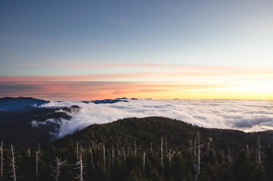 フリー写真 クリングマンズ・ドームの山と雲海の風景