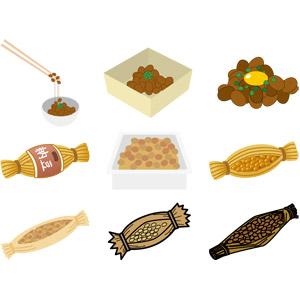 フリーイラスト, ベクター画像, AI, 食べ物(食料), 納豆, 豆(マメ), 日本料理