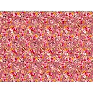 フリーイラスト, ベクター画像, AI, 背景, 和柄, 鞠(毬), 桜(サクラ), もみじ(カエデ), ピンク色