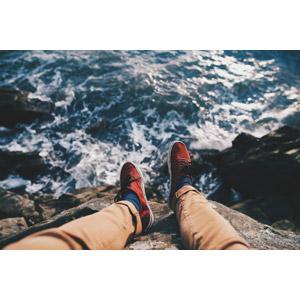 フリー写真, 人体, 足, 脚, 海岸, 海