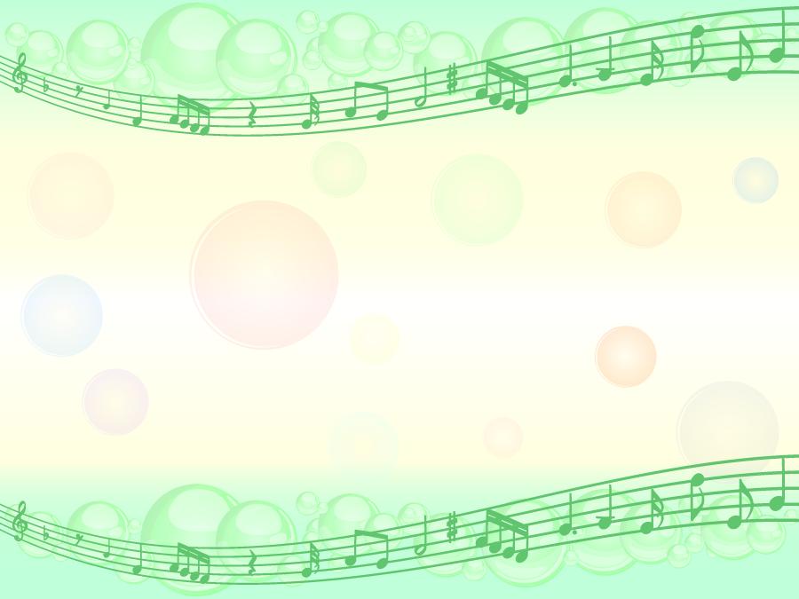 フリーイラスト 楽譜と泡と水玉模様の飾り枠