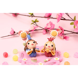 フリー写真, 人形, 年中行事, 雛祭り(ひなまつり), 3月, 上巳(桃の節句), ひな人形, 桃(モモ)