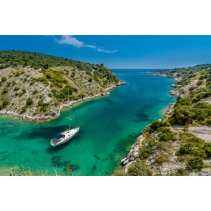 フリー写真, 風景, 運河, 海, 島, 乗り物, 船, ヨット, クロアチアの風景