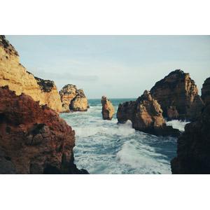 フリー写真, 風景, 自然, 海食柱, 海