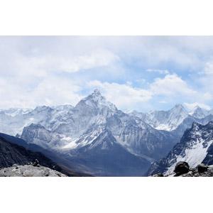 フリー写真, 風景, 自然, 山, ヒマラヤ山脈, ネパールの風景