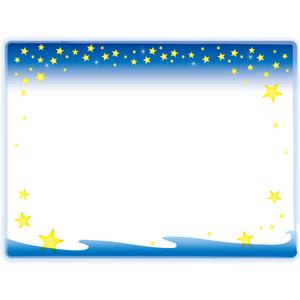 フリーイラスト, ベクター画像, EPS, 背景, フレーム, 囲みフレーム, 星(スター), 夜空