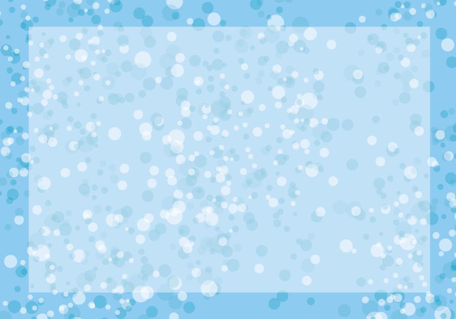 フリーイラスト 水しぶきの飾り枠