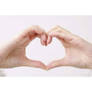 フリー写真, 人体, 手, 手でハートを作る, ハート, 白背景, 愛(ラブ)